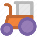 bulldozer, dozer, excavator, wrecking, construction, construction bulldozer, trucks, transport icon