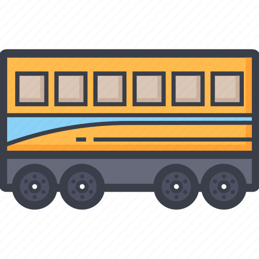 bus, coach, train, tram, transport icon