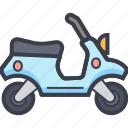 motorscooter, scooter, scooty, travel, vespa icon