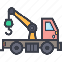 lifter, luggage lifter, tow, tow truck, transport icon