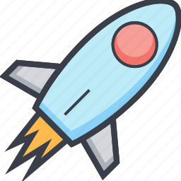 missile, rocket, space, spaceship icon