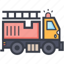 fire engine, fire transport, fire truck, firefighting, truck icon