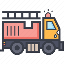 fire engine, fire transport, fire truck, firefighting, truck icon