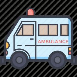 ambulance, ambulance car, emergency vehicle, rescue, siren icon