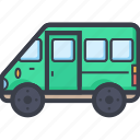 coach, tour bus, transport, travel, vehicle icon