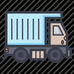 construction truck, dump truck, transport, truck, vehicle icon