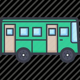 autobus, bus, motorbus, public bus, public transport icon