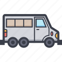 automobile, delivery van, minivan, transport van, van icon