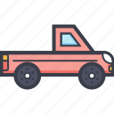 automobile, pick up, pick up truck, transport, vehicle icon