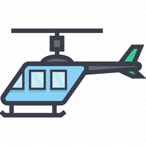 chopper, copter, helicopter, transport, vehicle icon