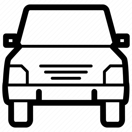 automobile, car, front, transport, travel, vehicle icon