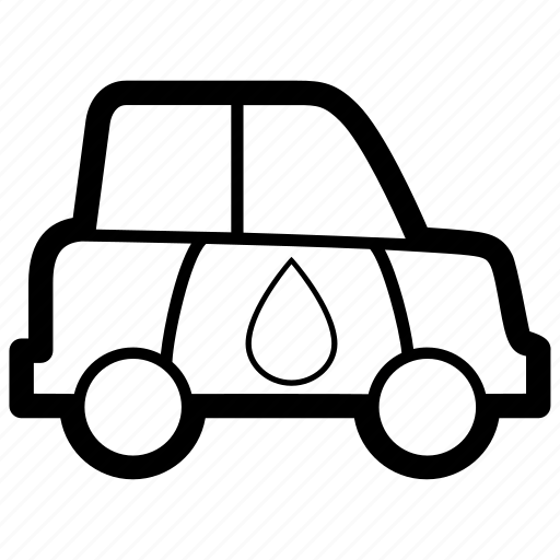car, ecological, fuel, hydrogen, sustainable, vehicle, water icon