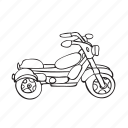 drive, motorcycle, outline, rudder, transport, wheel icon