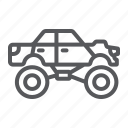 car, extreme, monster, sport, transport, truck icon