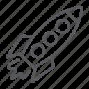 rocket, space, spaceship, startup, transportation icon