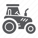 agriculture, farm, harvest, machine, tractor, transport, vehicle icon