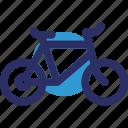 bicycle, cycle, cycling, manual bike icon