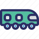 local transport, railway road, railway track, train icon