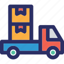 delivery services, delivery truck, delivery vehicle, goods delivery van icon