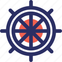 pirate helm, rudder, ship helm, ship wheel icon