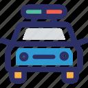 cop, petrol police car, police car, police transport icon