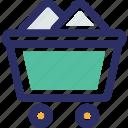 coal mine cart, coal trolley, construction cart, construction cart mining cart icon
