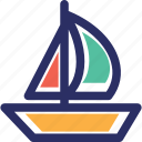 beach fun, boat, canoeing, rafting icon