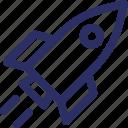 missile, rocket, spacecraft, spaceship icon
