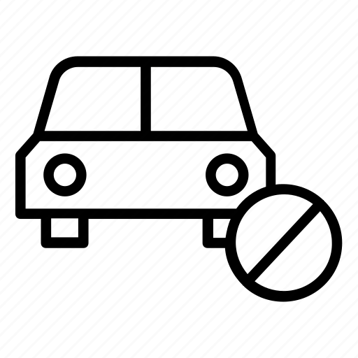 Block, car, notallowed, transport, vehicle icon - Download on Iconfinder