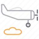airplane, cloud, fly, transport, travel icon
