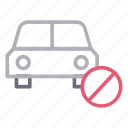 block, car, notallowed, transport, vehicle icon