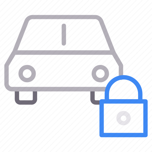 automobile, car, lock, protection, vehicle icon