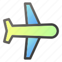 airplane, airport, fly, jet, travel icon