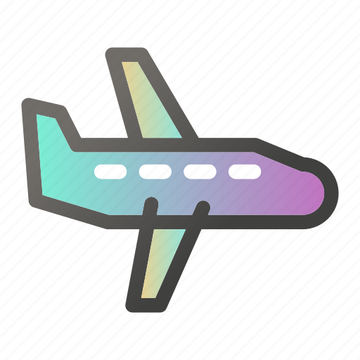 airplane, airport, fly, jet, plane, transport, travel icon
