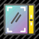 apartment, building, doors, elevator, lift icon