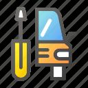automobile, car, fix, transport, transportation, vehicle icon