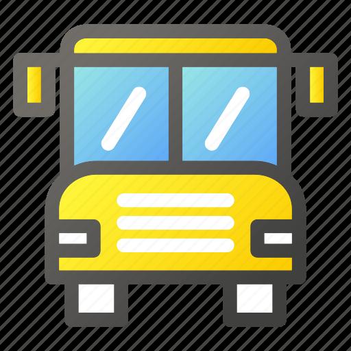automobile, bus, public, transport, transportation, vehicle icon
