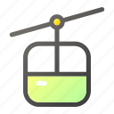 cabin, cable, car, transport, transportation icon