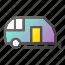 camping, caravan, summer, transport icon