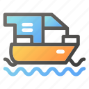 delivery, ship, shipment, transport, travel icon