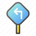 direction, panel, road, sign, traffic, warning icon