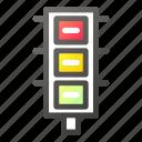 light, signal, stop, traffic, transportation icon