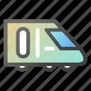 metro, rail, train, transportation icon