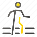 transport, transportation, vehicle, walk icon