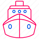 car, sea, ship, traffic, transport, transportation icon