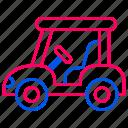 car, golf, golf car, traffic, transport, transportation icon