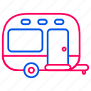 camping car, car, holiday, traffic, transport, transportation, travel icon