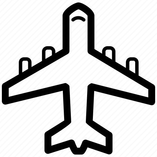 airplane, airport, flights, plane, sky, transport icon