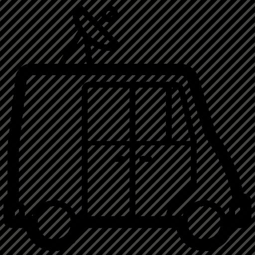 broadcast, mobile, news, transport, truck, van, vehicle icon