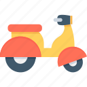 bike, motorbike, scooter, transport, vespa icon